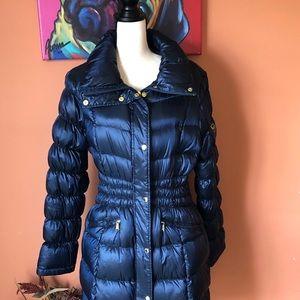 MICHAEL KORS blue packable down coat